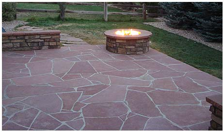 stone patio landscaping in castle rock co